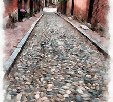 Cobblestone Streets of Boston by Edward Fielding