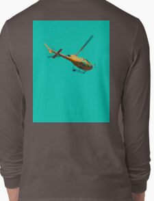 Yellow helicopter Long Sleeve T-Shirt