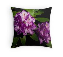 Rhododendron Pair Throw Pillow
