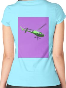Green & purple helicopter Women's Fitted Scoop T-Shirt