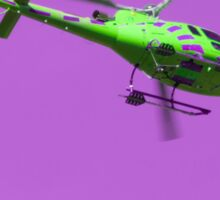 Green & purple helicopter Sticker