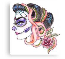 senorita de los muertos Canvas Print