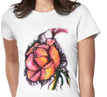 furry rose Womens Fitted T-Shirt