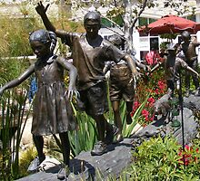 Children Playing by Marie Sharp
