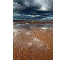 reflections, balmedie beach Photographic Print