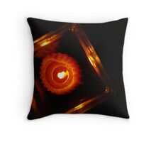 Candle in Red Throw Pillow