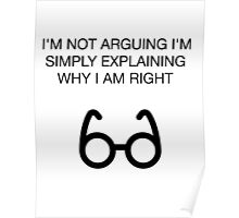Nerdy Offensive Humor Sarcasm Glasses Poster