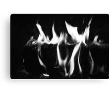 Black Flame Canvas Print