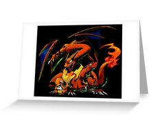 Charmander, Charmeleon, Charizard Greeting Card
