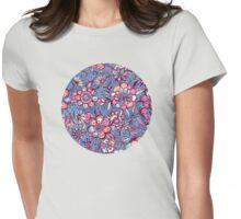Sweet Spring Floral - soft indigo & candy pastels Womens Fitted T-Shirt