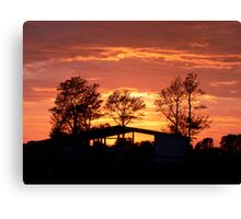 Sunrise of Oxley Canvas Print
