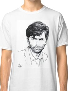 David Tennant as Alec Hardy Etching Classic T-Shirt