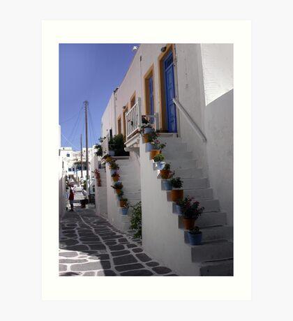 Typical greek corner Art Print