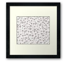 Abstract Flowers - Gray Framed Print