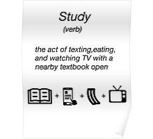 funny shirt novelty study dictionary noun Poster