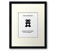 funny novelty sex joke cute teddy bear humor Framed Print