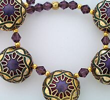 Enamelled Purple Necklace by Erica Long