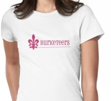 The Burketeers in Pink with The Fleur-de-lis Womens Fitted T-Shirt
