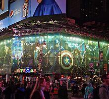 Avengers on Broadway. by beckydavis96