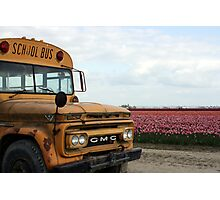 Flower bus Photographic Print