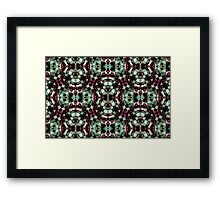 Geometric Abstract Grunge Pattern Framed Print