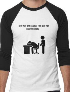 social humor funny workplace nerd Men's Baseball ¾ T-Shirt