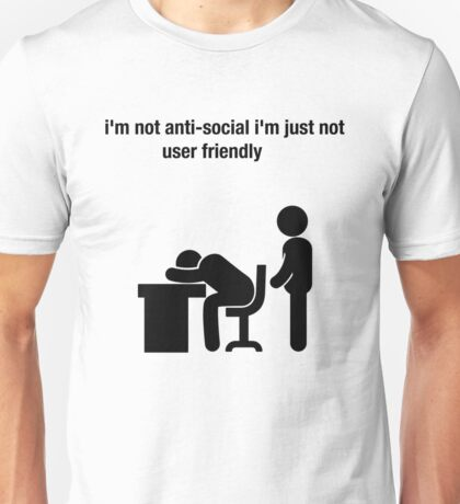 social humor funny workplace nerd Unisex T-Shirt