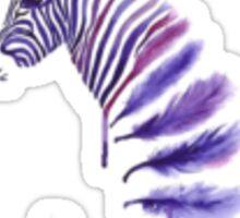 Feather Zebra Sticker