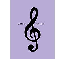 Treble clef music is magic Photographic Print