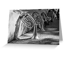 Trumpets on Stand-by Greeting Card