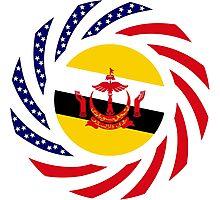 Bruneian American Multinational Patriot Flag Series Photographic Print
