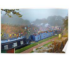 Sunday Morning At The Narrow Boat Festival Poster
