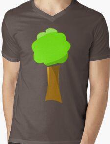 Naif tree on blue Mens V-Neck T-Shirt
