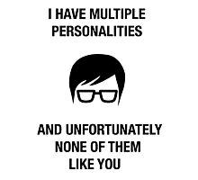 funny hipster insult humor offensive nerdy novelty Photographic Print