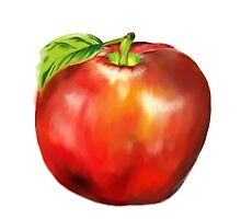 apple painting  by theblankkcanvas