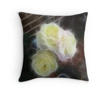Pretty Yellow Roses..Fractilus Throw Pillow