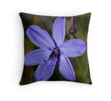 Blue Quills Throw Pillow