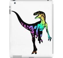 Velocirainbow iPad Case/Skin