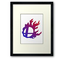 Smash Logo Red and Blue Framed Print