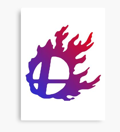 Smash Logo Red and Blue Canvas Print