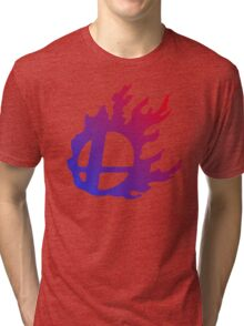 Smash Logo Red and Blue Tri-blend T-Shirt