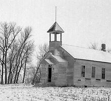 Old Abandoned School House in Nebraska by Tony Weatherman