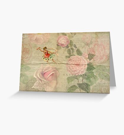 Ballet Dancer on Flowers Greeting Card