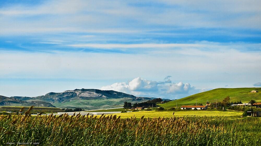 Green hills of Sicily by Andrea Rapisarda