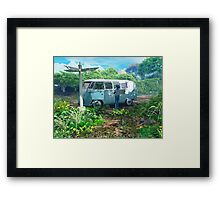 Blue Man 01: Crossroads Framed Print