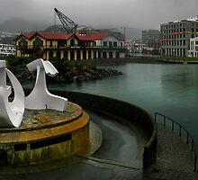 Rain on the Waterfront by Peter Kurdulija