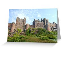 Imposing Bamburgh Castle Greeting Card
