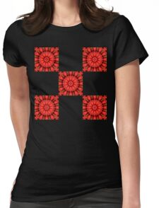Strawberry Sqaures Womens Fitted T-Shirt