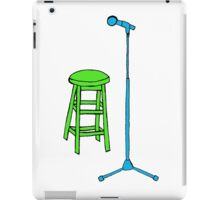 Stand Up Comedy Stool and Mic.  iPad Case/Skin