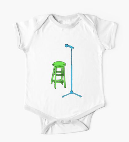 Stand Up Comedy Stool and Mic.  One Piece - Short Sleeve